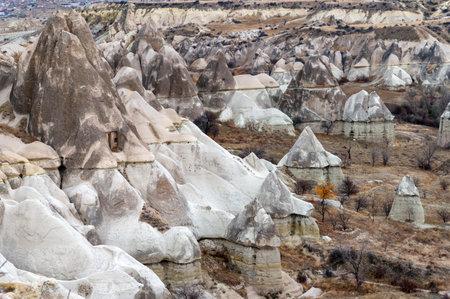 Amazing rocks in Love Valley in Cappadocia, Goreme, Turkey Stok Fotoğraf