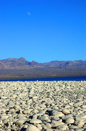 searchlight: White Rocks Shoreline Lake Mohave, Searchlight, Nevada, USA