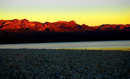mohave: Sunset Shoreline, Lake Mohave, Searchlight, Nevada, USA Stock Photo