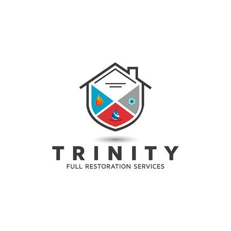 Restaurer   Vecteurs libres, inspiration de conception de logo. Logo