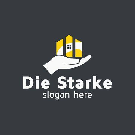 Property management vector logo design