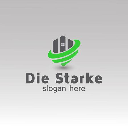 Real estate Property management logo design