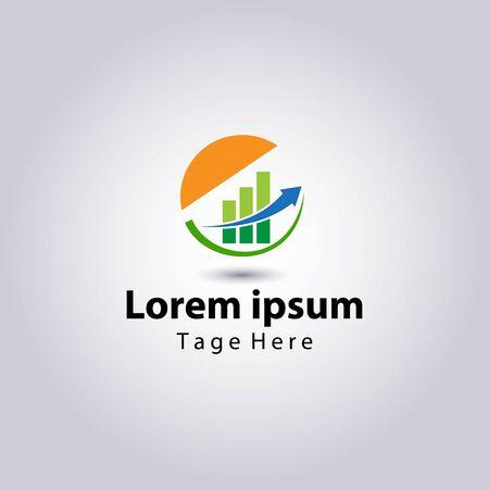 Accounting and Financial advisor logos design template.