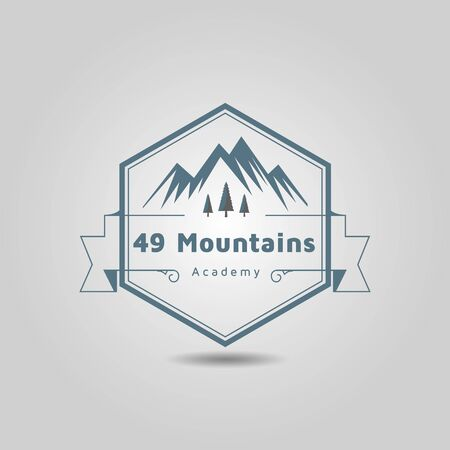 Mountain marketing academy and expedition adventure logo design.
