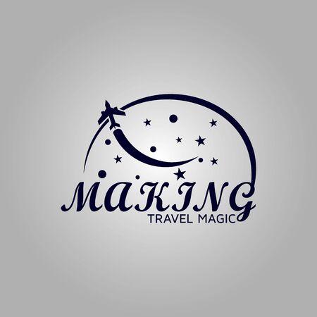 Magician star vector element logo template design inspiration. Logo