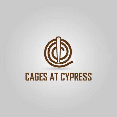 Professional athletic baseball with letter C logo design