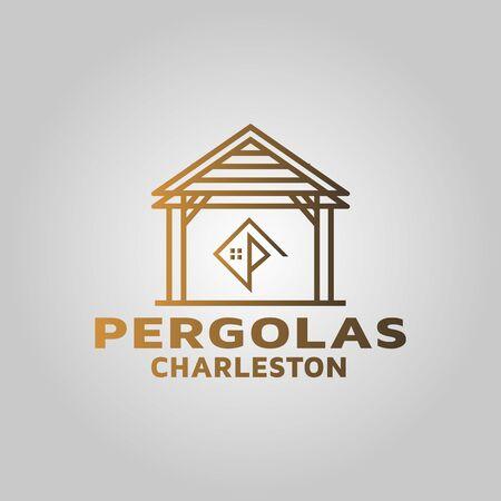 Building pergola logo design inspiration