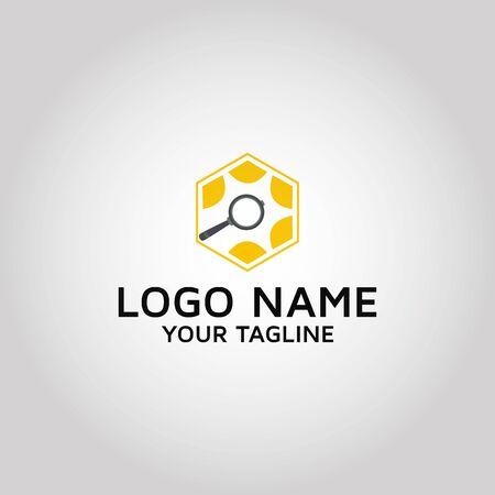 Search vector logo design template