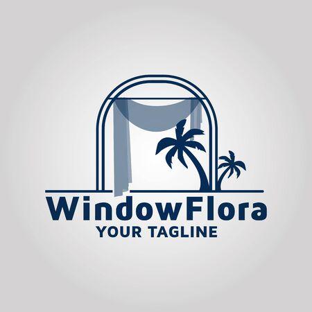 Window vector logo design template