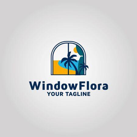 Modern Window vector logo design template inspiration Stock Photo