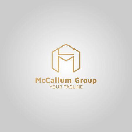 Letter MC vector logo design