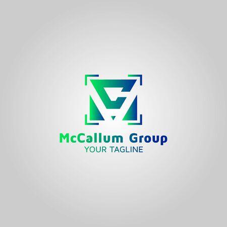 Letter MC vector logo design template Zdjęcie Seryjne
