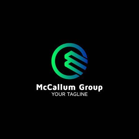 Letter MC vector logo design inspiration