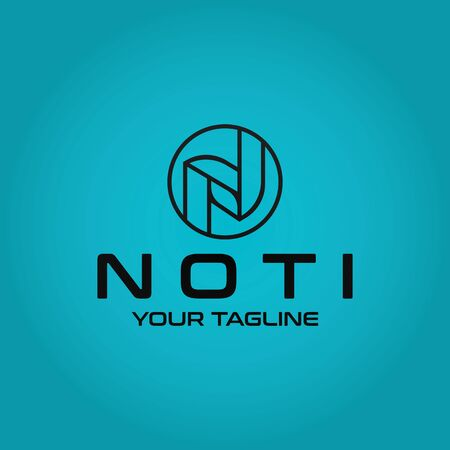 Letter N vector logo design template inspiration Stock fotó