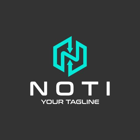 Letter N vector logo design