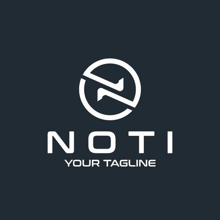 Letter N vector logo design template