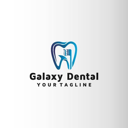Dental brush vector logo design. Archivio Fotografico - 149421383