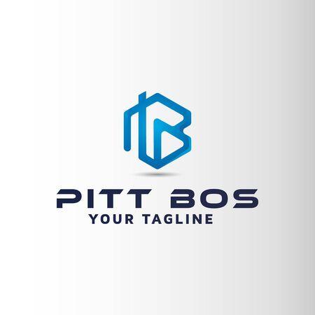 PB letter vector logo design