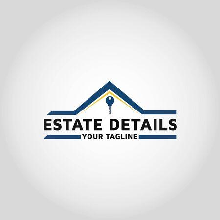 Key real estate vector logo design template inspiration.House Keys Logo Template