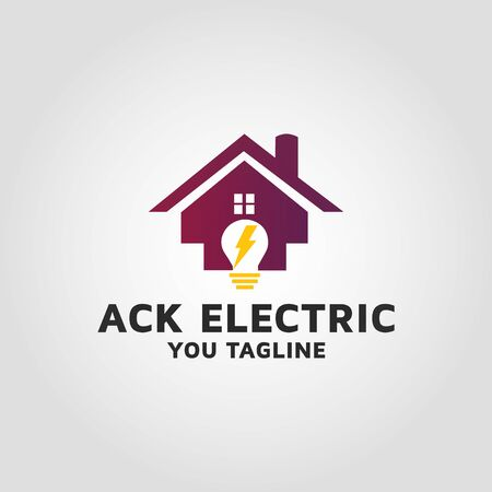 commercial electrical company logo design 02 Stock Photo