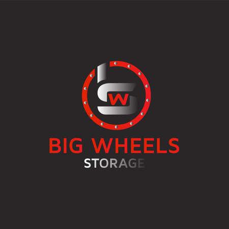 Letter BWS logo design template