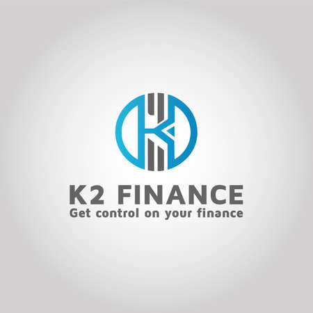 Letter K2 Vector logo design template