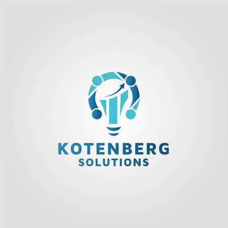 financial Solutions vector logo design template
