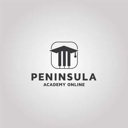 Music Academy vector logo design template