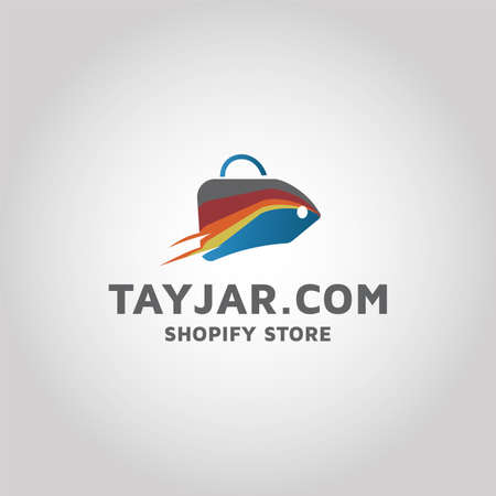 Shopify store ecommerce vector logo design