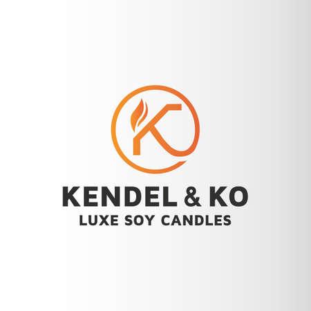 Candle letter K design inspiration .