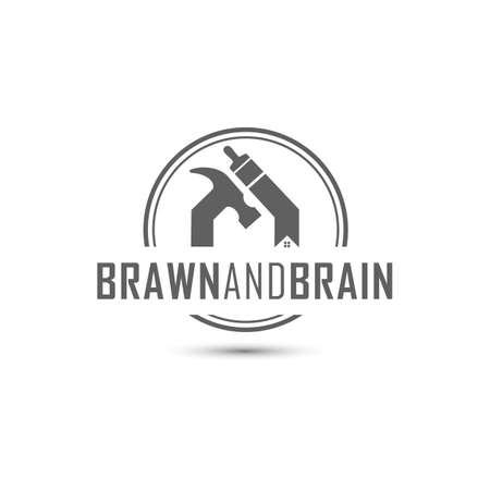 Handyman home construction repair and maintenance logo design Logo