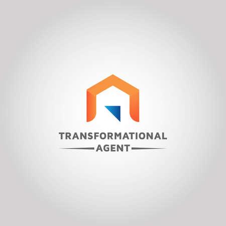 Real estate vector logo design inspiration Ilustrace