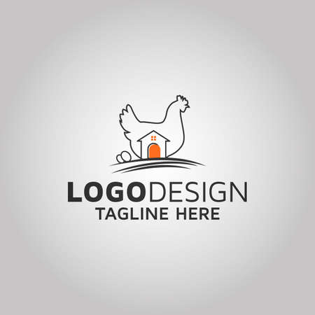Chicken house logo design idea