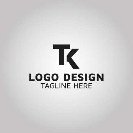 Letter TK initial TK logo design company