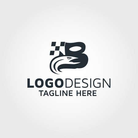Letter B & fish logo design idea