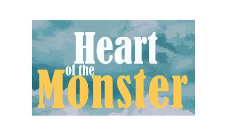 Heart of the monster, monster t shirt design, logo template design