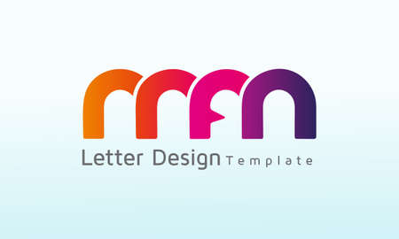 Initial Letter MFM vector logo design, logo template vector icon illustration design