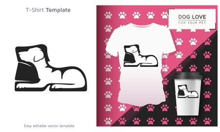 Man shoe Pet t-shirt, Cool Dog Owner Gift. Funny Dog T-Shirt.