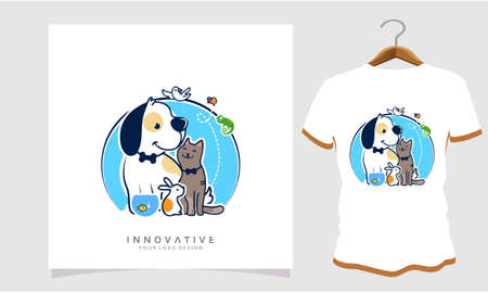 Dogs cats fish and rabbits together, Dog T Shirt Images, Stock Photos and Vectors
