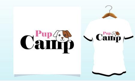 Pup camp t-shirt, Dog T Shirt Images, Stock Photos & Vectors