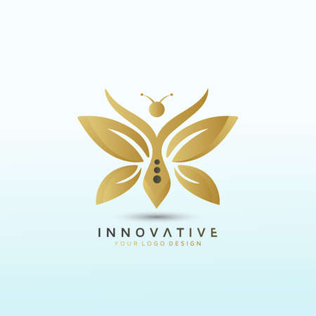 Butterfly logo design template, Fitness Logo Images, Stock Photos & Vectors