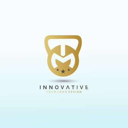 Letter TM fitness logo, dumbbell icon, Fitness Logo Images, Stock Photos & Vectors Logo