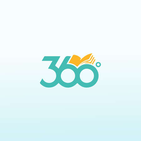 360 degree book icon, vector abstract logo design templates online Ilustração