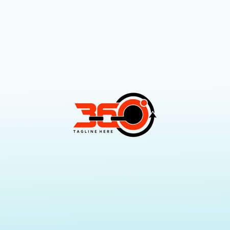360 degree views vector icon, 360 vector logo design template idea and inspiration. Logos