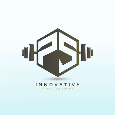 Letter Ps crossfit logo, fitness logo, Dumbbell icon, Gym Fitness Logo Images and Vectors, Stock Photos