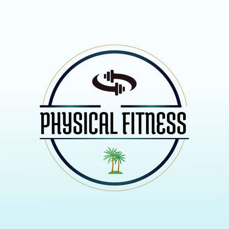 Travel fitness logo design template, Dumbbell icon, Gym Fitness Logo Images and Vectors, Stock Photos