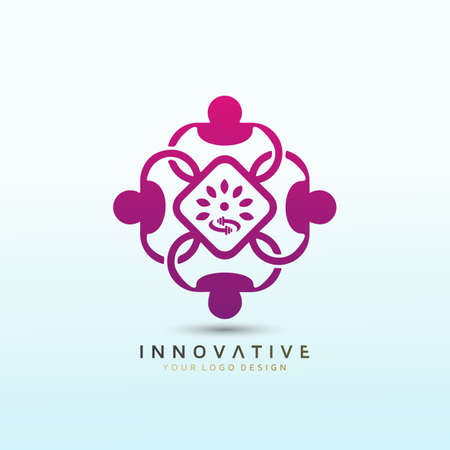 Yoga and Wellness classes, coaching services. Fitness logo design. Vector logo design template idea.