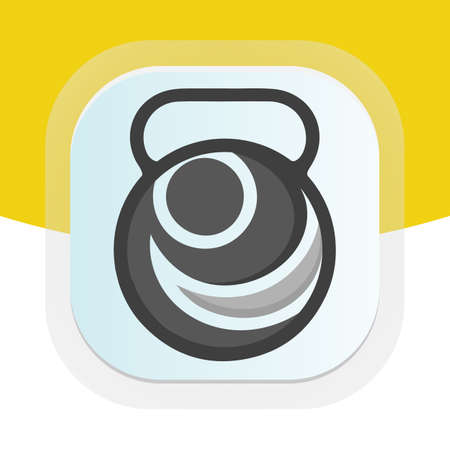 Physical Therapy with dumbbell icon. Physical fitness vector logo design. Logos