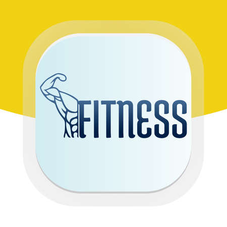 Arm body builder fitness logo design