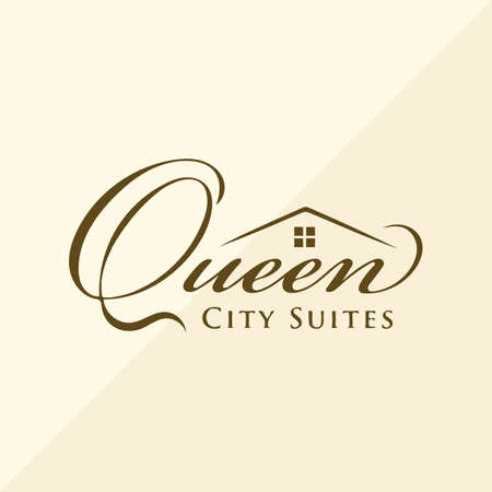 Queen City vector logo design template